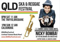 Nicky Bomba! QLD Ska & Reggae Festival-Sat 11 Jan 8pm