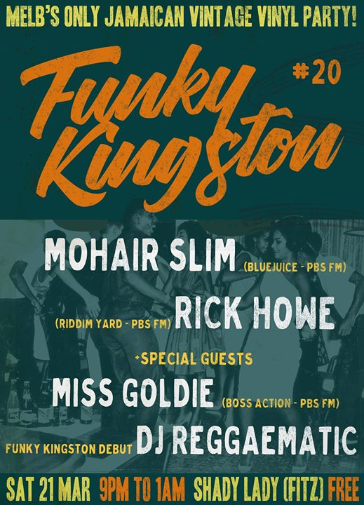 Funky Kingston #20 – free vintage Jamaican vinyl party