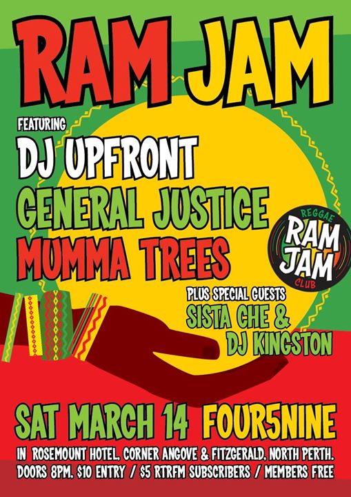 Ram Jam Reggae Club March!